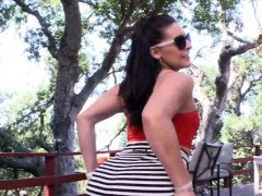 Phat ass whore Gracie Glam banged by huge dick outdoors