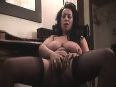 MILF With Big Breasts Strips And Fingers