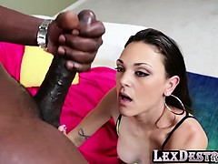 Deepthroater and blonde Olivia Wilder gets destroyed by Lex