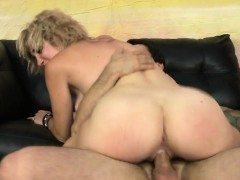 Horny Blonde Tramp Gets Her Pussy Fucked Good