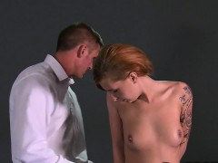 Handcuffed sub banged from behind