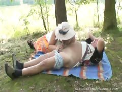 Aging Wife Watches Nubile Coed Riding Her Husband's Hard