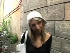 Blonde Slut Gets A Facial Outdoors POV