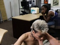 Black guy pawns his GFs twat and fucked at the pawnshop