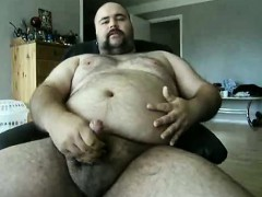 Danish Guy - Bear doing another jerkoff with a shot...