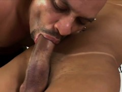 Busty shemale Bianca Hills enjoys ass fucking with Tony Lee