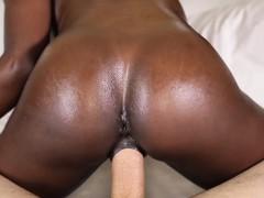 Horny sexy pretty little ebony chick Ana Foxxx gets fucked