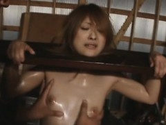 Slutty beauty is fond of being bound up and banged very hard