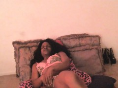 Ebony Whore Masturbates