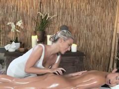 Oiled Asian takes lesbian nuru massage