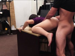 Sexy shoplifter gets caught and fucked