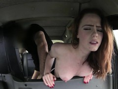 Taxi hardcore pounding with a blonde curly European