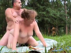 Public - Talking Fat MILF Woodland Fuck