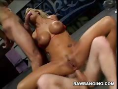 Busty Blonde Gets Double Penetrated