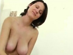 Large containers girl provides tit and hand job