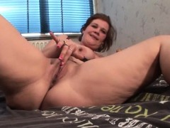 Hot cunt mature nymph vibes her pink clit