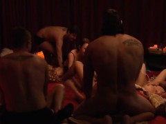 Swingers Swap Partners And Massive Orgy In Playboy Room