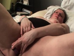 Chubby mature gets finger and toy fucked