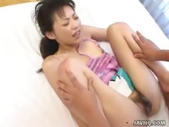 Horny Mani sucks cock and gets her pussy pounded