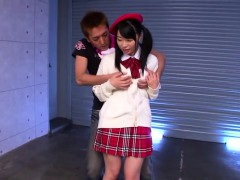 Alluring Little Japanese Schoolgirl Seduces A Horny Dude