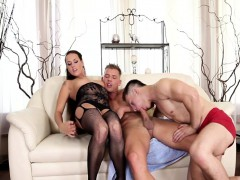 Dirty Babe Mea And Her Bisexual Stud Mark Want Another Cock