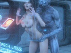 3d Zombie Destroyed All Her Fuck Holes!