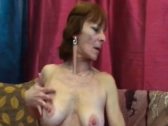 Hot Gilf Ivet Takes Long Younger Cock On Couch