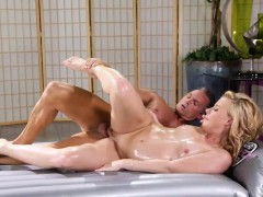 Lovely masseuse Nicole Clitman pounded after giving massage