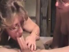 Blonde MILF And Teen Take Cumshot In Threesome