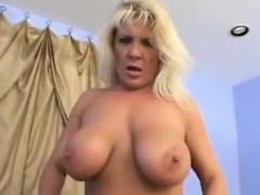 Curvy big titted mature blonde Julia