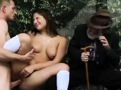 Teen Fucks In Public In Front Of Grandpa!