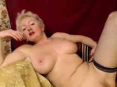Hot Blonde Mature Masturbates Pussy On Webcam