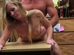 Sexy blonde bitch banged the hardest way