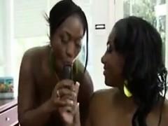 Oiled Up Ebony Lesbians