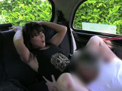 Sexy amateur customer tricked and fucked by fake driver