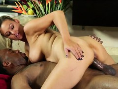Beautiful Blonde Abbey Brooks gives good service for Jovan