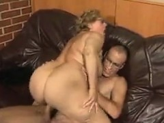 Fat Granny Fucked By A Young Guy On The Floor