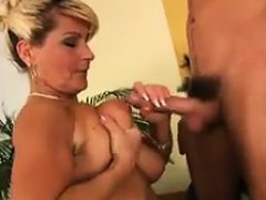 Busty And Hairy Granny Sucking And Fucking