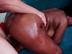 Big ass choco girl cunt smashed from behind