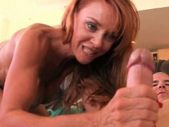 Redhead MILF pounded hardcore from behind