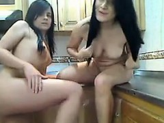 Pretty Teen Lesbians In The Kitchen