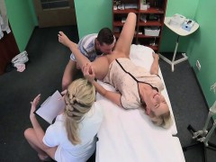 Group fuck with nurse in hospital
