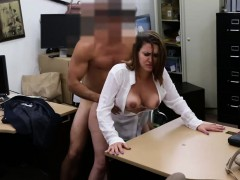 Big titted amateur milf fucked for a plane ticket back home
