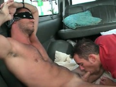 Hot amateur guy tricked into gay oral sex in the bus