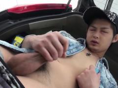 Japanese dude strokes rod
