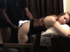 Blonde woman moans getting hammered that are dark