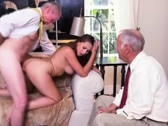 Pretty Brunette Teen Ivy Rose Loves Herself Some Old Dick
