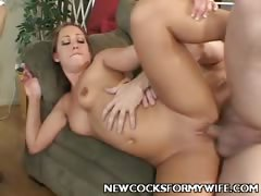 Young Wife Enjoys Cock Ramming