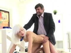 Natural college girl gets tempted and screwed by her older s