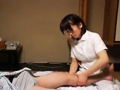 Insatiable Japanese girl stuffs her hungry honey hole with